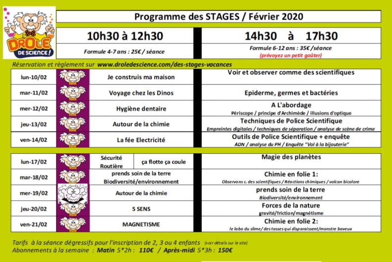 Programme Vacances